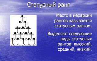 Личный ранг — психология