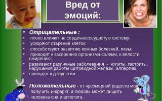 Плохие эмоции, вредные чувства — психология
