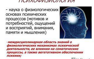 Психофизиология — психология