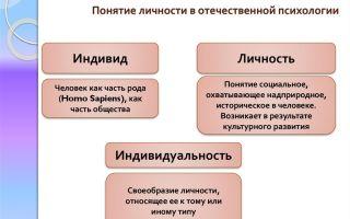 История понятия личность — психология