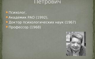 Зинченко, владимир петрович — психология