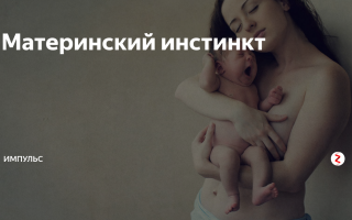 Материнский инстинкт — психология