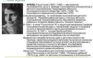 Анна фрейд — психология