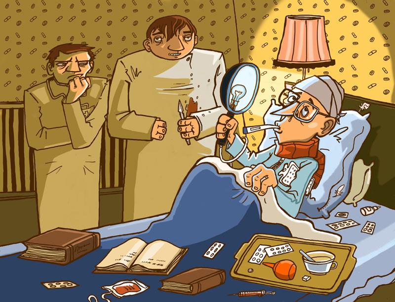 Прикольные картинки болезнь, сыночку лет смешные